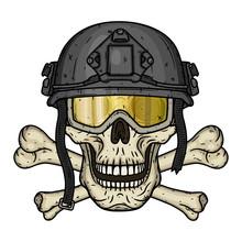 Skull In The Helmet. Dead Sold...