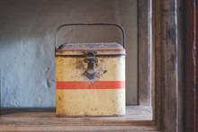 Old Tin Box For Food - Vintage...