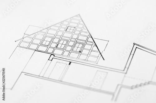 Türaufkleber Darknightsky Architektur Zeichnung