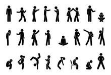Stick Figure People Pictogram,...