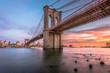 Brooklyn Bridge New York City at Dusk