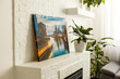 canvas print picture - Modern lliving room interior with venice, italy, canvas on the wall - it is my photo available in shutterstock gallery