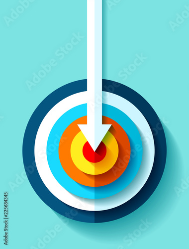 Photo Volume Target icon in flat style on color background