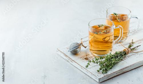 Leinwand Poster Thyme herbal tea