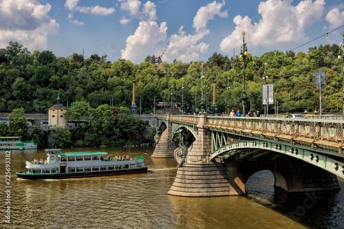 Staande foto Praag Prag, Jugendstilbrücke
