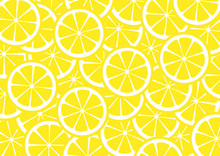 Bright Lemon Slices Vector Bac...