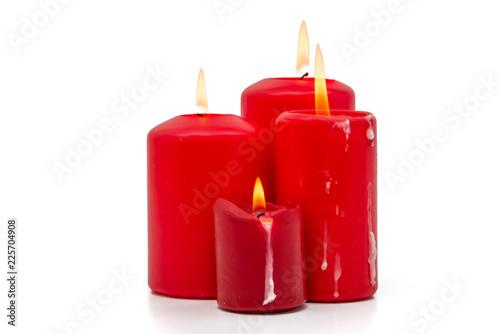 Vier rote Kerzen Fototapete