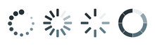 Set Of Four Loading Icons In L...