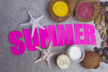 Hand Made Big Text Summer