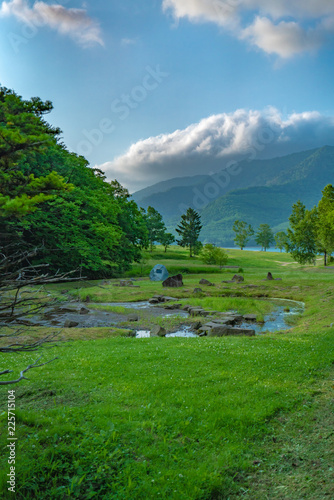 Deurstickers Groene Green Natural Landscape