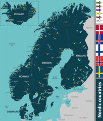 Map of Nordic countries