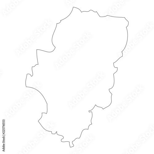 Map of Aragon, Spain Fototapeta