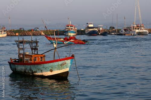 Plakat Port rybacki Matara w Sri Lance