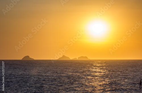Staande foto Meloen Sunset on the beach of Ipanema