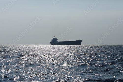 Frachtschiff auf dem Ozean