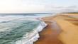 Leinwandbild Motiv Hossegor/ Seignosse Beach Aerial View