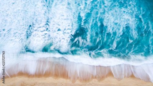 Deurstickers Kristallen Ocean long exposure aerial view