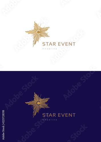 Star event logo teamplate. Wallpaper Mural