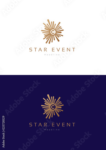 Photo  Star event logo teamplate.