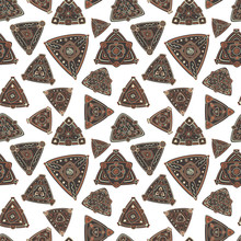 Pattern With Abstract Triangles. The Theme Of The East And The Ethnics.
