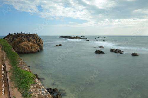 In de dag Kust Die Küste bei Galle in Sri Lanka