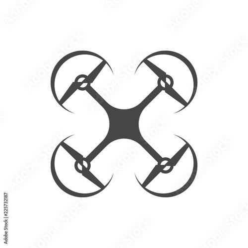 Quadrocopter logo, Drone Icon Fototapet