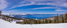 Lake Tahoe From Heavenly Resort Ski Trail - Skiing - Activity All Over - Panoramic