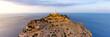 canvas print picture - Mallorca Leuchtturm Kap Cap Formentor Panorama Landschaft Abend Natur Meer Reise Reisen Spanien
