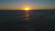 Loop Of Scenic Sunset Over Beach, Wide