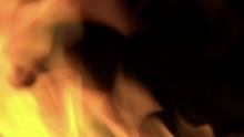 Loop Of Bright Orange Flames F...