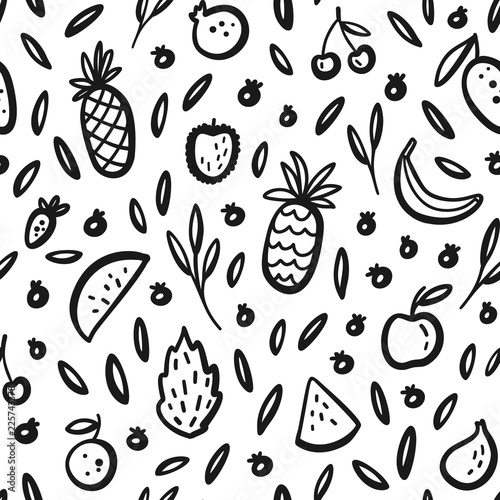vector tropical fruit background with durian pineapple watermelon Wrap Packaging Net vector tropical fruit background with durian pineapple watermelon banana dragon fruit