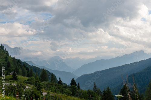 In de dag Donkergrijs Mountain Scenery of the Italian Dolomites on a summers Afternoon