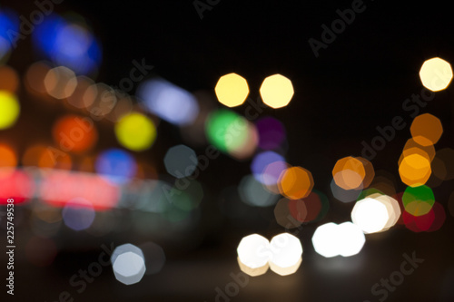 Fotografering  Blurred lights. Night in the city.