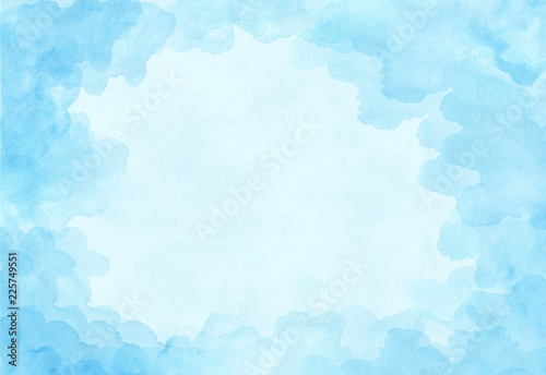 Fotografie, Obraz Beautiful light blue watercolor background