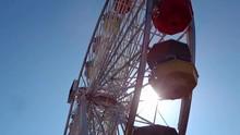 Loop Of Looking Up The Santa Monica Ferris Wheel