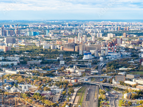 Foto op Canvas Seoel aerial view of northwest of Moscow city