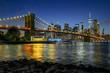 Panorama new york city at night