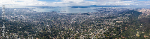 Aerial Panorama of the East Bay in Northern California Canvas Print