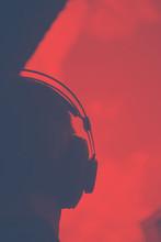 DJ Deejay Producer Wearing Hea...