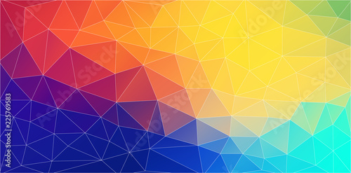 Fresh color triangle wallpaper