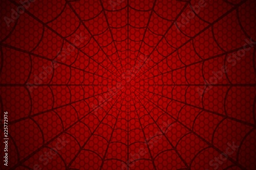 Fotografiet Spider web. Cobweb on Red background. Vector illustration