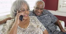Senior Black Woman Talking On ...
