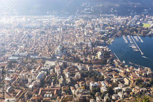 Photo Aerial view of City of Como on Lake Como, Italy
