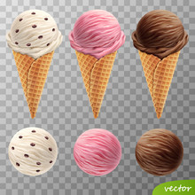 3d Realistic Vector Ice Cream ...