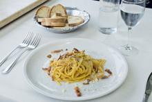 Carbonara: Eggs, Pancetta, Parmesan