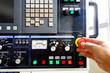 Control panel of a CNC milling machine
