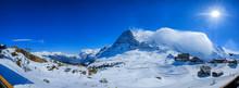Panoramic View Of Snow Mountai...
