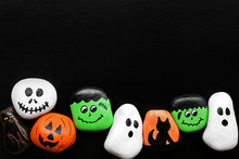Row Of Spooky Cartoon Hallowee...