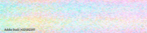 Illustration of creamy Impressionist Pointlilism background, abstract banner Wallpaper Mural