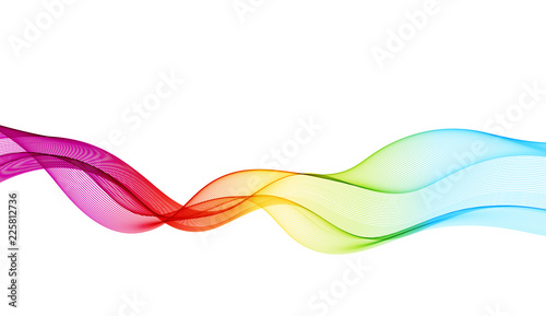 Tablou Canvas Abstract vector background with smooth color wave